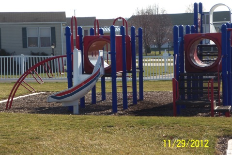 More of the climbing bars and slides on the play ground.