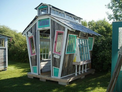 This cute little window house is for gardening and starting new plants...similar to a green house, but it is not.  My friend sent this to me on facebook.